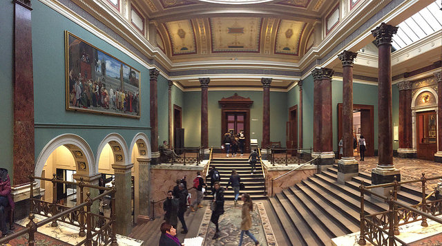 National Gallery interior (London, England 2016)